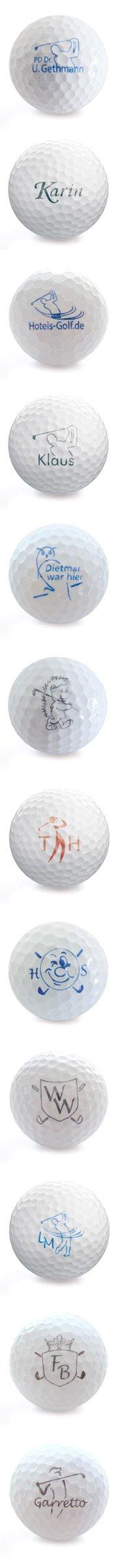 Golfball mit meinem Namen