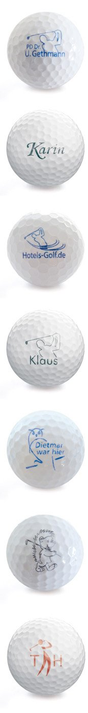 Golfball mit Namen