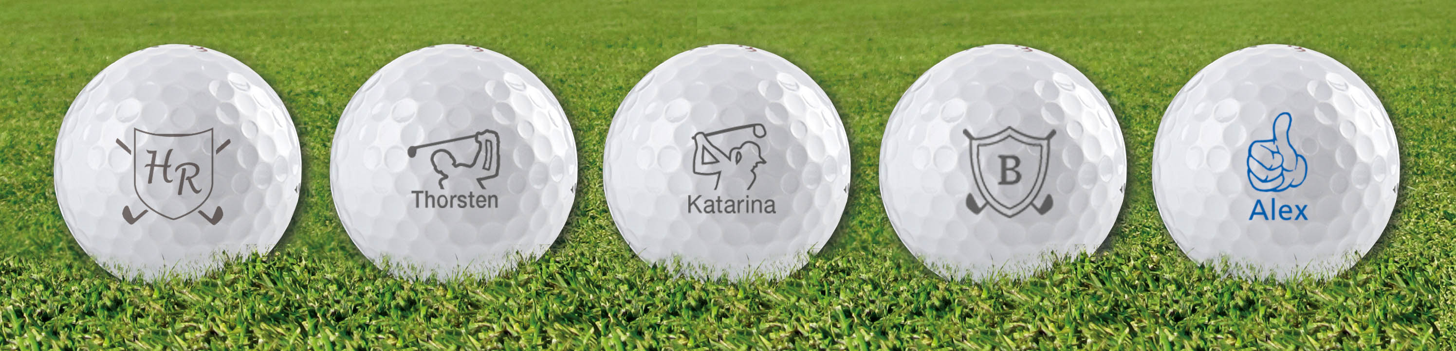 Golfmotive für den Golfballstempel