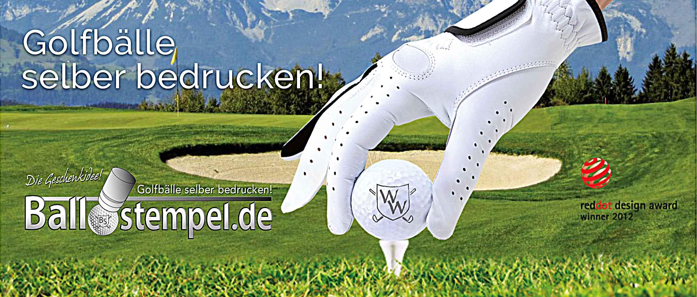 Golfballstempel - Das Geschenk für Golfer