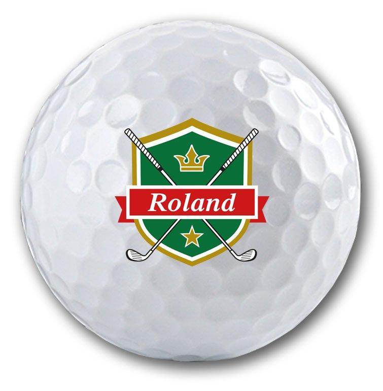 Die Geschenkidee für einen Golfspieler - bedruckte Golfbälle mit Namen