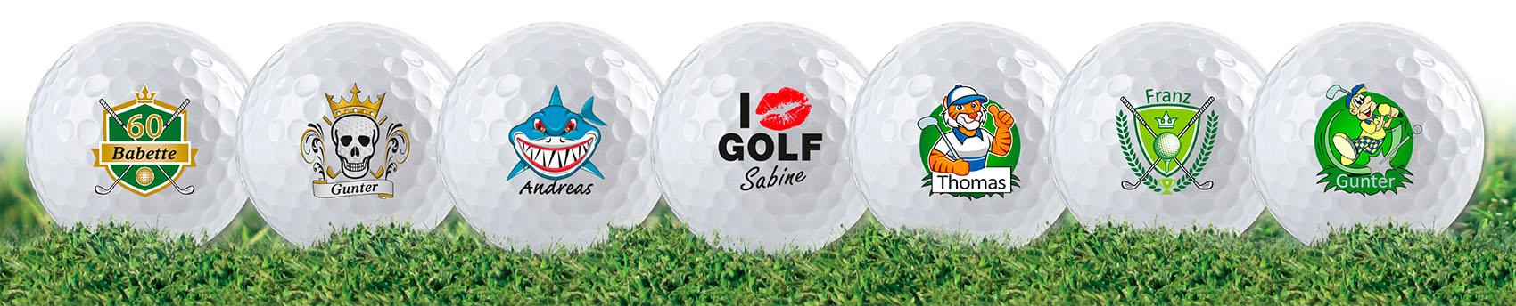 Golfball mit Ihrem Namen drucken lassen!