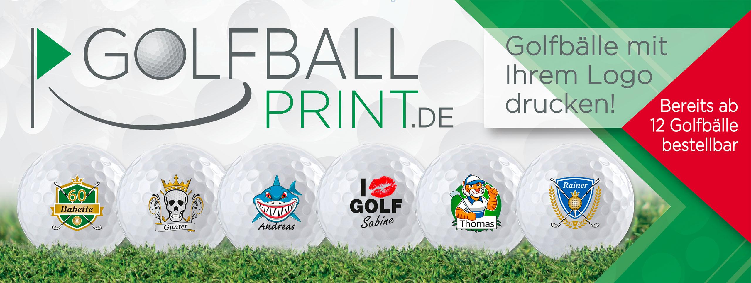 Golfbälle ab geringer Stückzahl individuell bedrucken!