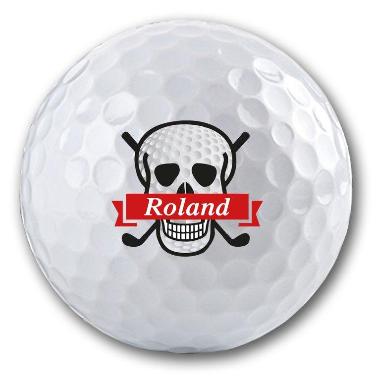 Totenkopf Logo auf Golfball