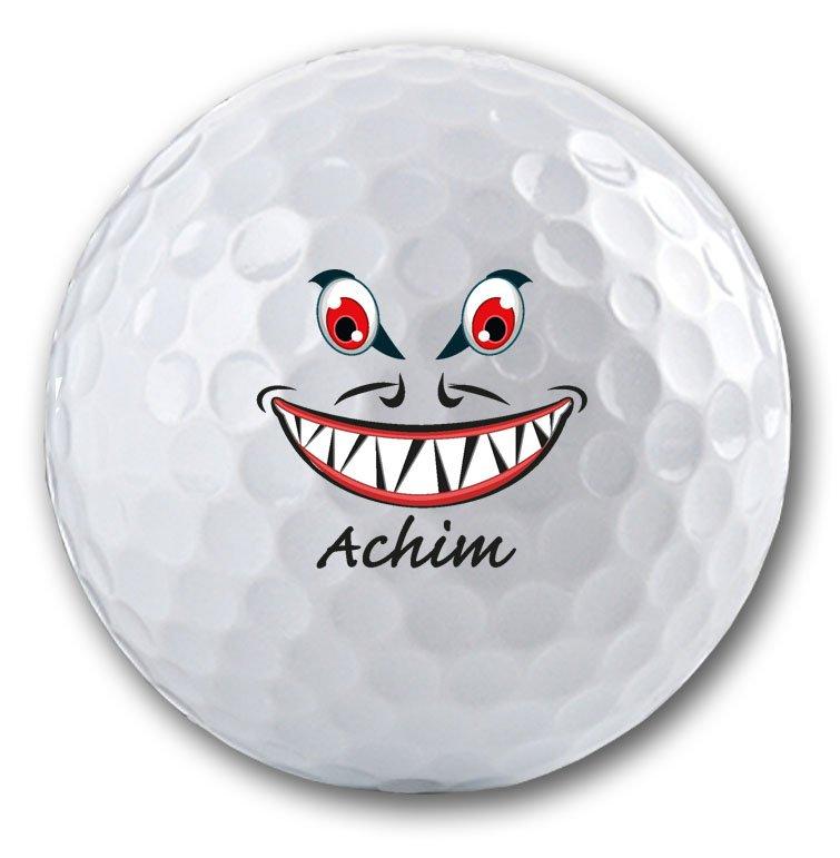 Lustiges Motiv auf Golfball bedrucken