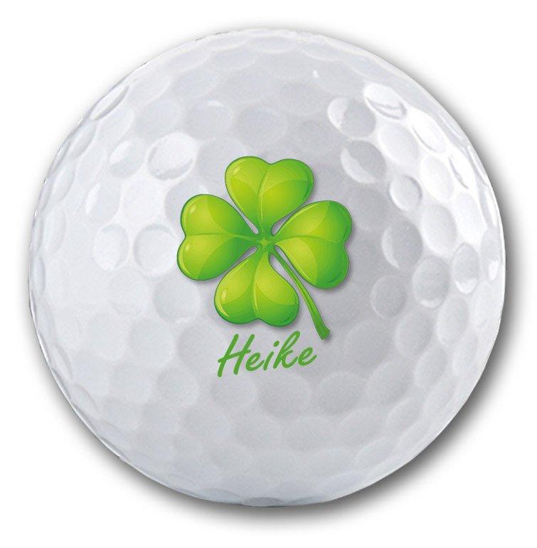 Kleeblatt auf Golfball bedrucken