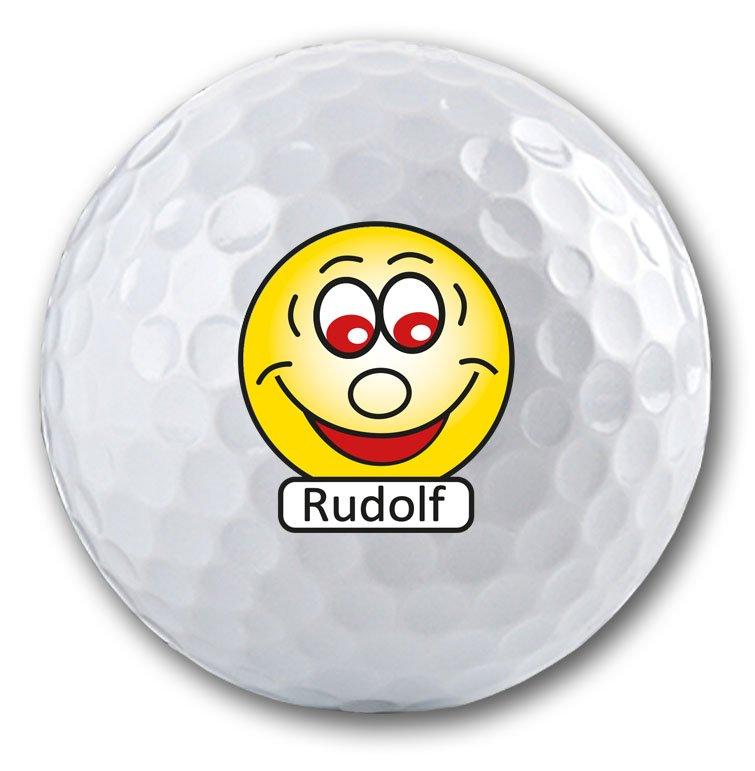 Das Geschenk für Golfer - personalisierter Golfball mit Smiley und Namen