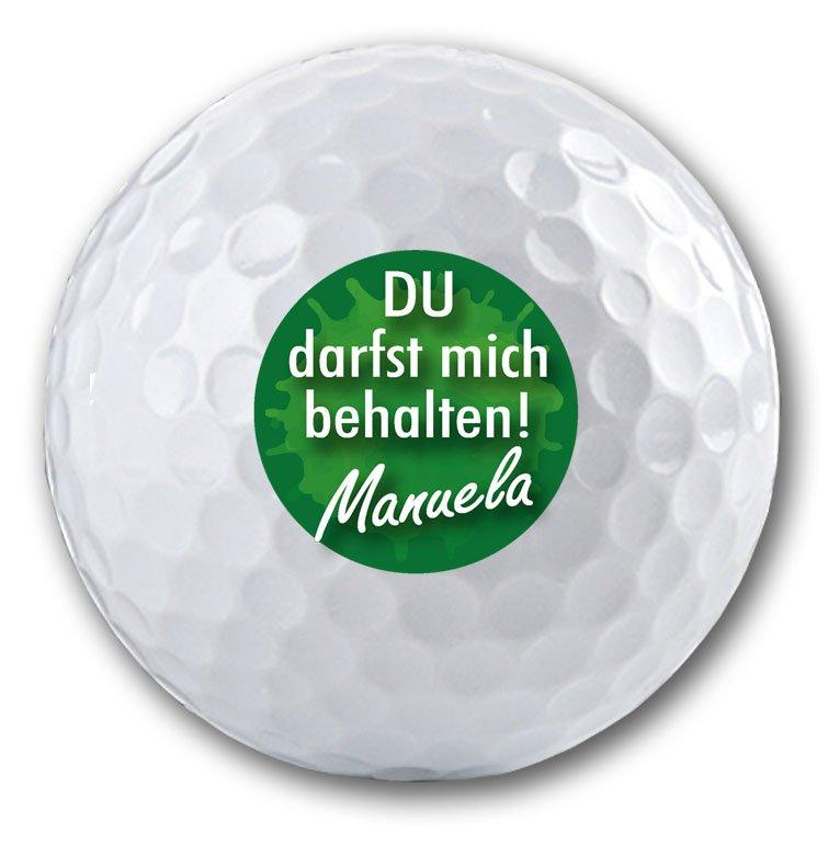Cooler Spruch auf Golfball bedrucken