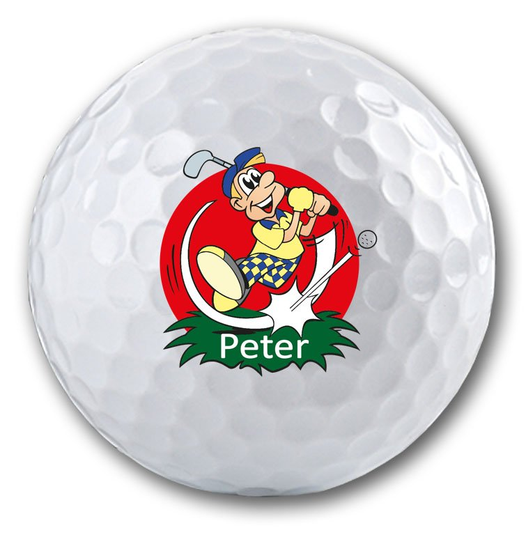 Lustiges Golfmotiv