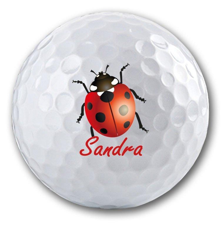 Marienkäfer auf Golfball bedruckt!