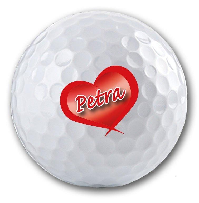Golfball mit Herz bedrucken lassen!