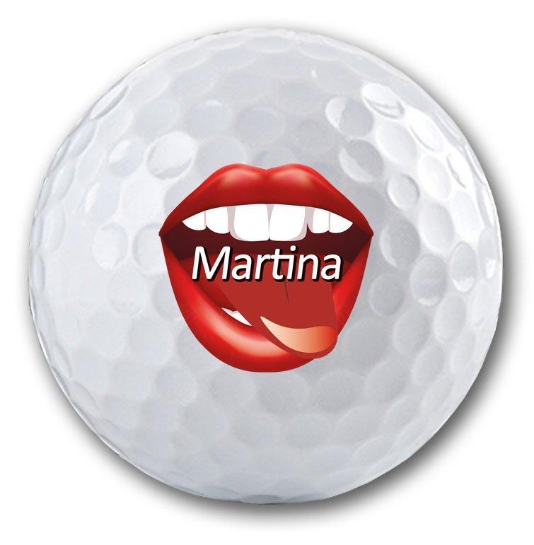 Sexy Golfball mit Namen bedruckt!