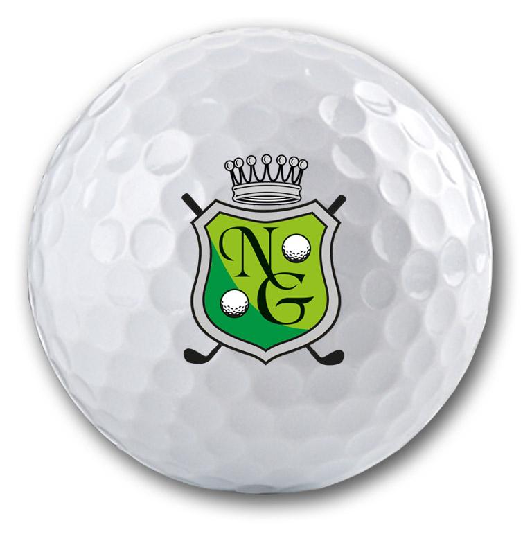 Exklusiver Golfball mit Wappen und Namen oder Initalen