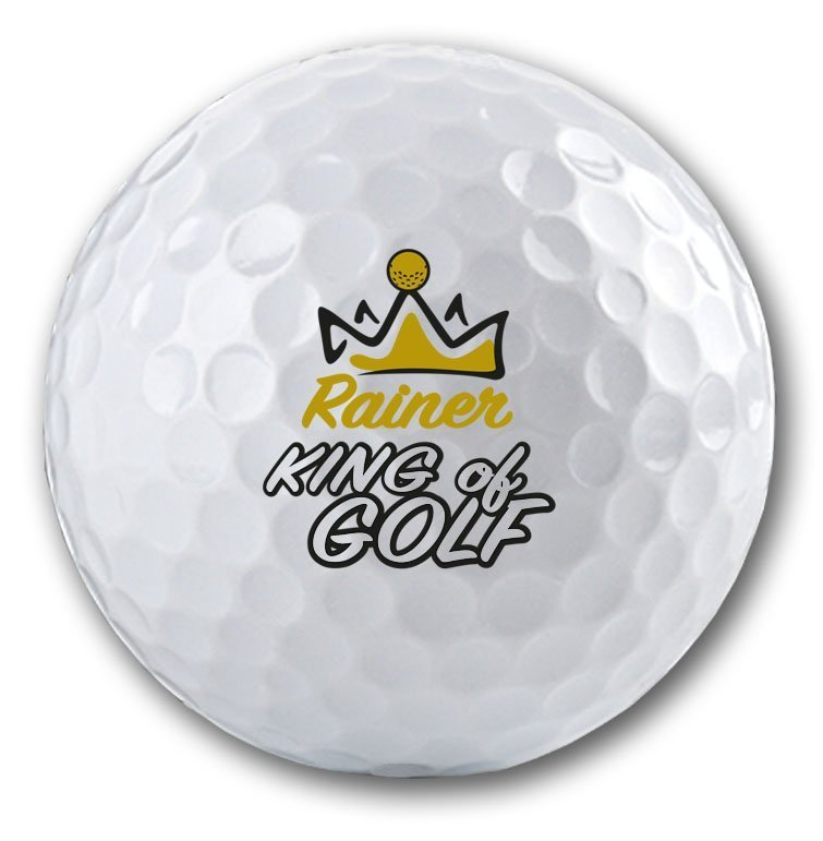 Logogolfbälle mit vielen Golfmotiven online bedrucken lassen