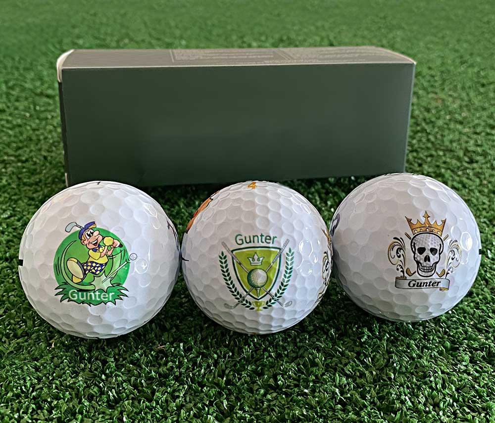 Wir bedrucken Ihre Golfbälle nach Ihren Wünschen!