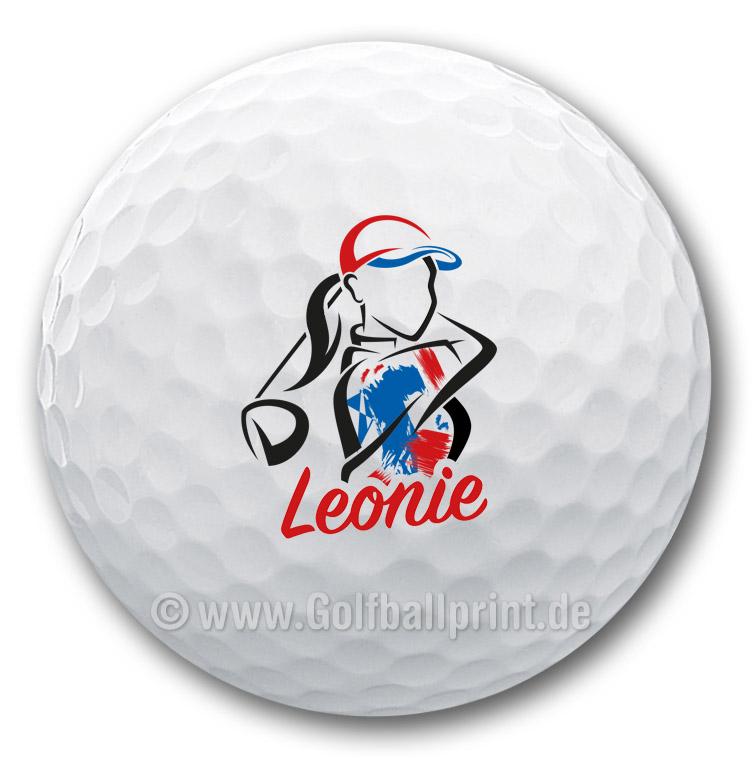 Tolles und individuelles Golfgeschenk für Golferinnen - der bedruckte Golfball