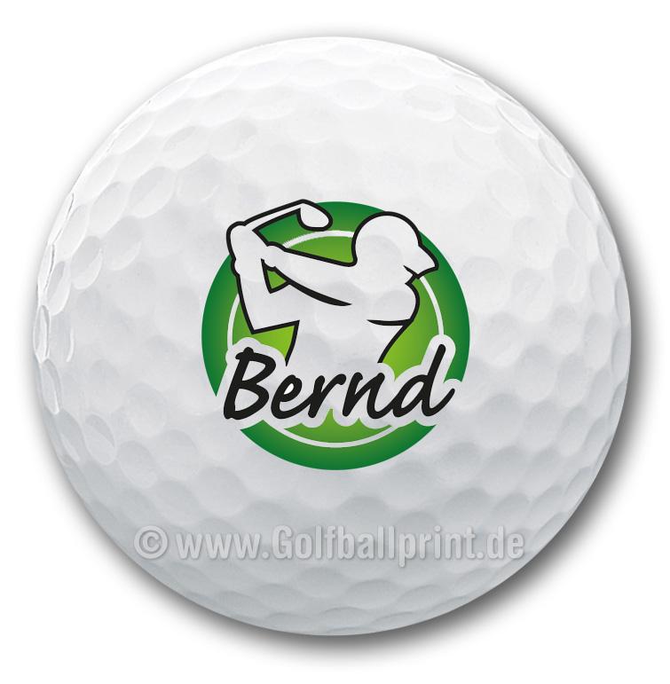 Personalisierter und bedruckter Golfball mit Namen